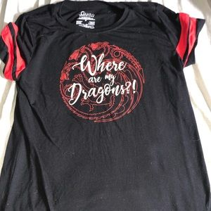 Tops - Where Are My Dragons: Game of Thrones Tee